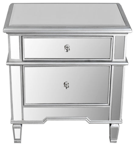 Benton Mirrored Night Stand