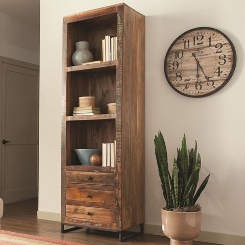 Reclaimed Wood Cabinet Bookcase