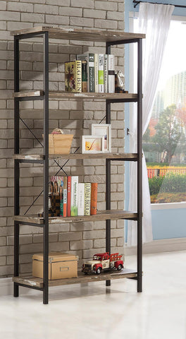 Salvaged Cabin finish Industrial Style Bookcase