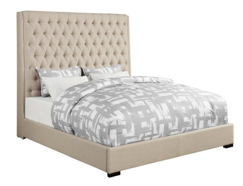 Camille Cream Upholstered Bed