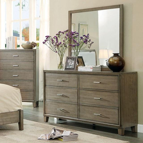 Enrico Mirror & Dresser, Weathered Gray