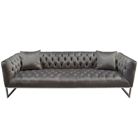 Crawford Tufted Sofa, Dusk Grey