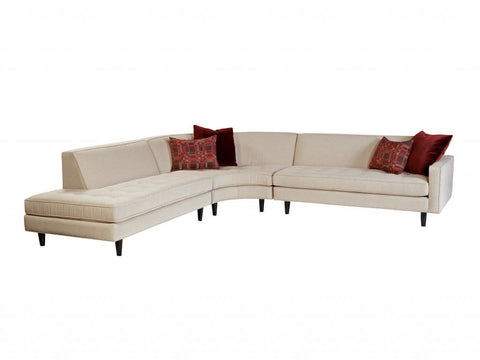 Kent Contemporary Sectional, Choose Your Fabric