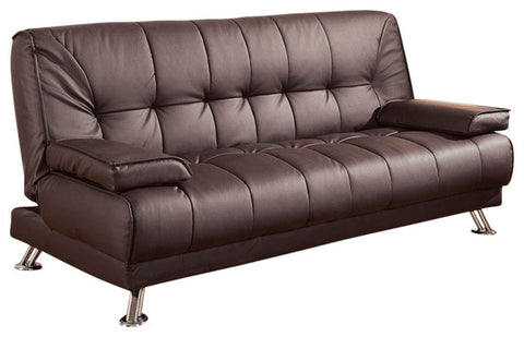 Jordan Brown Leatherette Futon Sofa Bed