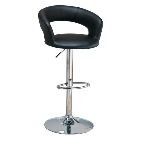 Element Black Leatherette Adjustable Swivel Bar Stool