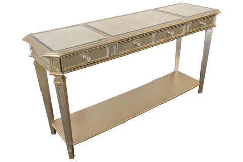 Bronze Champagne Console Table
