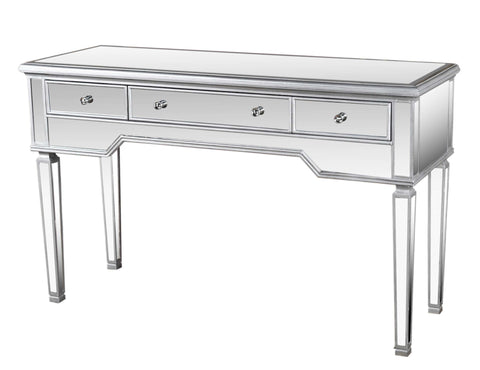 Mirrored Three Drawer Vanity Table