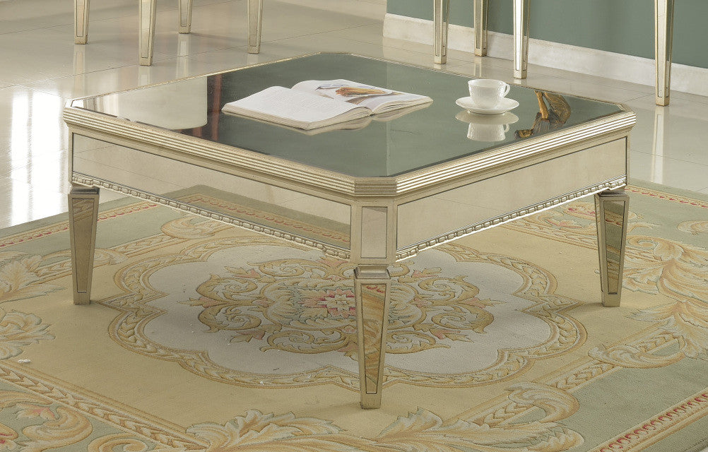 Silver Mirrored With Gold Brushing Coffee Table Interior Gallerie