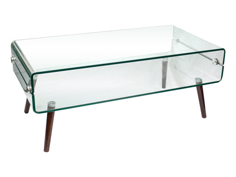 Brady Contemporary Mid Century Coffee Table