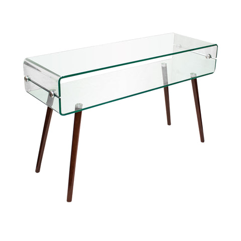 Brady Contemporary Mid Century Console Table