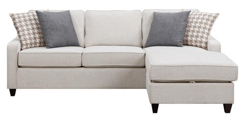 Montgomery Cream Reversible Sectional With Storage Ottoman