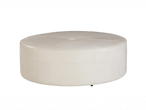 Oversized Round Ottoman, (Choose your fabric)