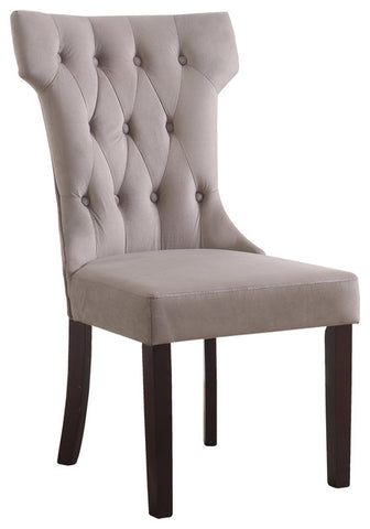 Camila Velvet Otter Dining Side Chairs, Set of 2