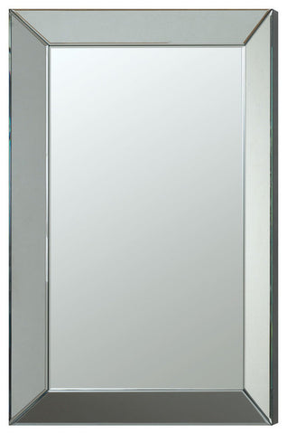 Sleek frameless beveled mirror