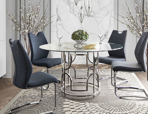 Avalon Glass Top Round Dining Set