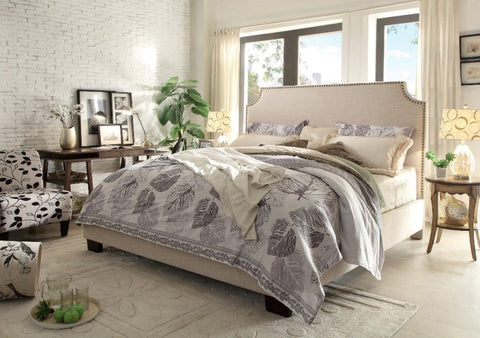 Kingston Desert Sand Linen Bed