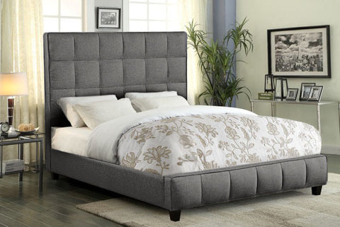 Loft Grey Fabric Low Profile Bed