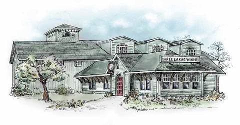 Three Lakes Winery Illustration