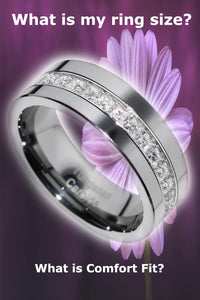 Tungsten carbide wedding band ring sizing tips