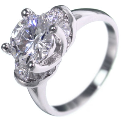 3.10CTW BRILLIANT CHANNEL BRIDAL ENGAGEMENT RING size 5-10