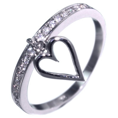 0.48CTW BRILLIANT CUT STONE - FOREVER HEART RING size 5-9