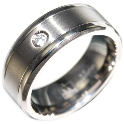 0.10CTW TITANIUM WEDDING BAND RING size 8-12