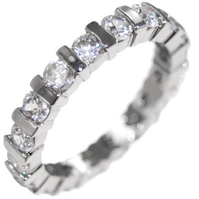 1.80CTW BRILLIANT STONE CHANNEL - ETERNITY RING size 6-10