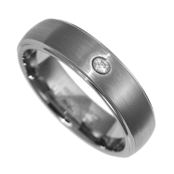 6mm Tungsten Carbide Band Clear CZ Men Women Wedding Ring Size 4-12