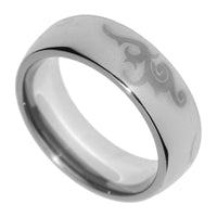 8MM Tungsten Carbide Polished Tribal Wedding Mens Ring Band 8-13