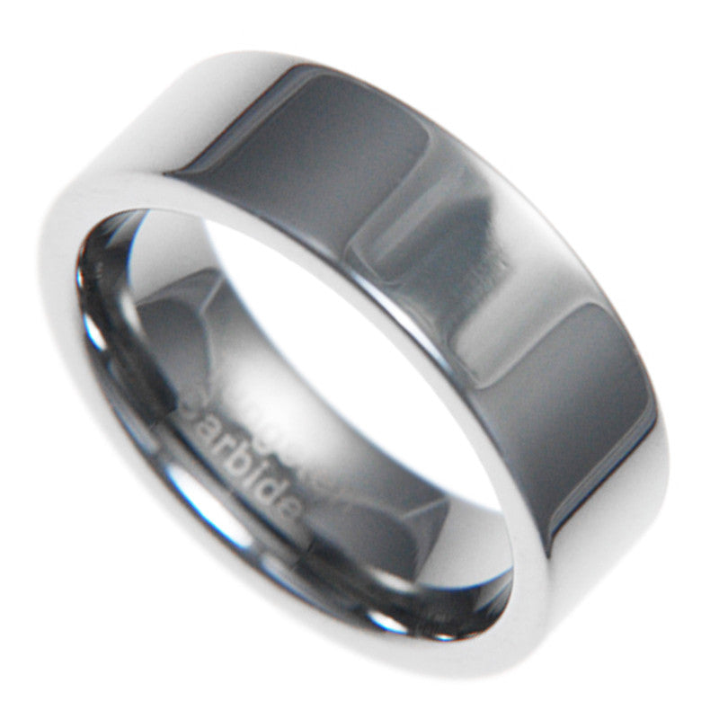 8mm Tungsten Carbide Unisex Men Bridal Wedding No Stone Ring Band Size 7-13