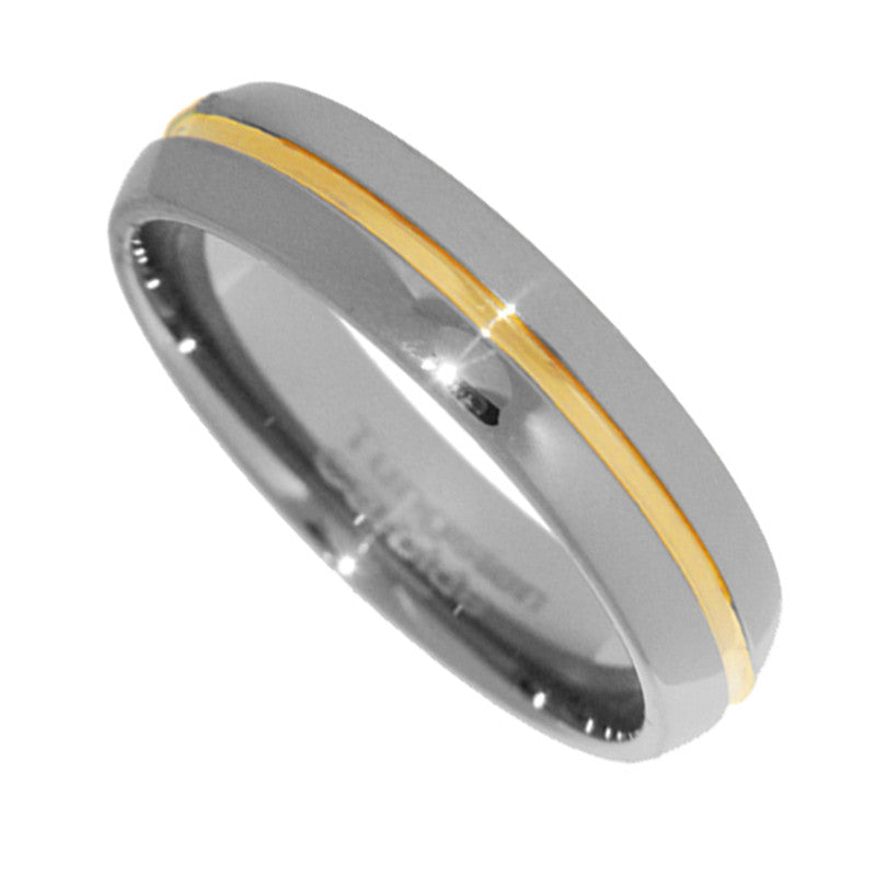 6mm Tungsten Carbide Two Tone Men Bridal Wedding Ring Band Size 4-12