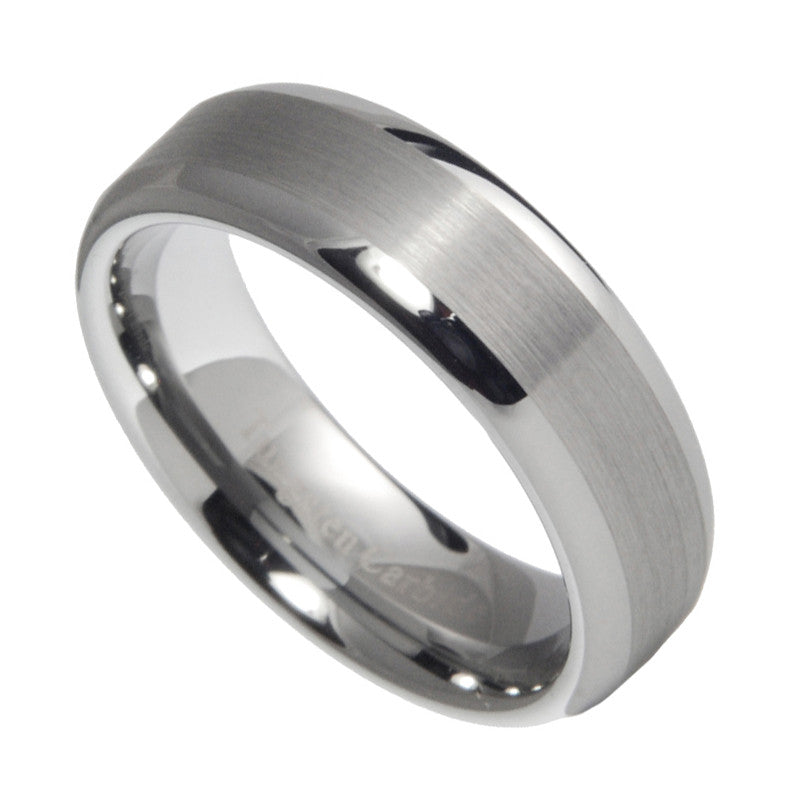 6mm Tungsten Carbide Men Women Brushed Polished Wedding Band Ring Size 6-14