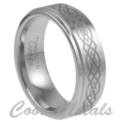 8MM TUNGSTEN CELTIC MEN WOMEN RING WEDDING BAND SIZE 7 8 9 10 11 12 13 14 15