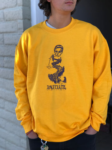 Initiate x Ivan A. H Lightning Path Gold Crew Neck Fleece