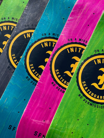 Initiate On A Mission Big Stamp Skateboard Deck
