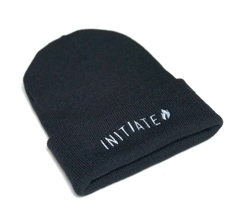 Initiate Skateboarding Flame Logo Embroidered Beanie