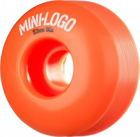 Mini Logo Wheel Hybrid C-cut 53mm Orange 4pk