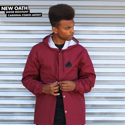 7557d41b8c46 Thrasher New Oath Hooded Coaches Jacket Cardinal Red – Initiate ...