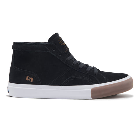 State Footwear Salem Black/ Gum Mid Top Skate Shoe
