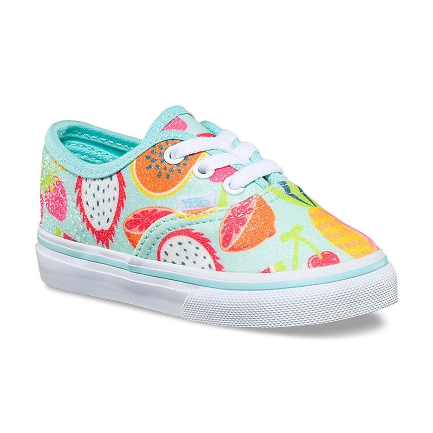 Vans Authentic Glitter Fruits Island Skate Shoes 8.5 Toddler