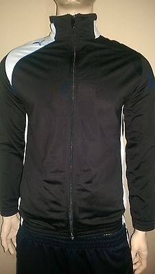 Puma United Poly Black/White/Surf The Web Track Jacket Size S