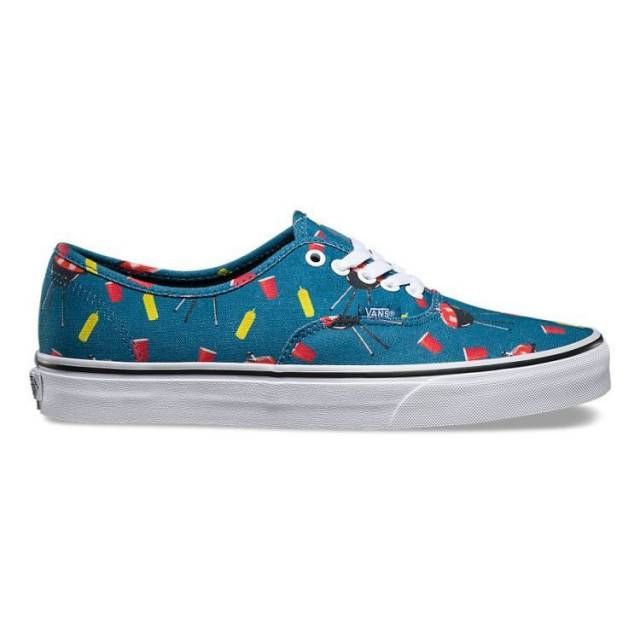 Vans Authentic Pool Vibes Blue Ashes Men's Classic Skate Shoes Size 10.5