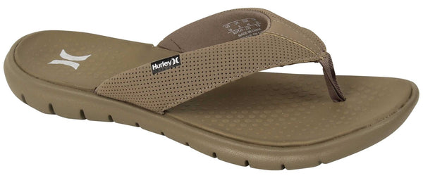 Hurley Flex 2.0 Men's Khaki Flip Flop Sandals Size 8