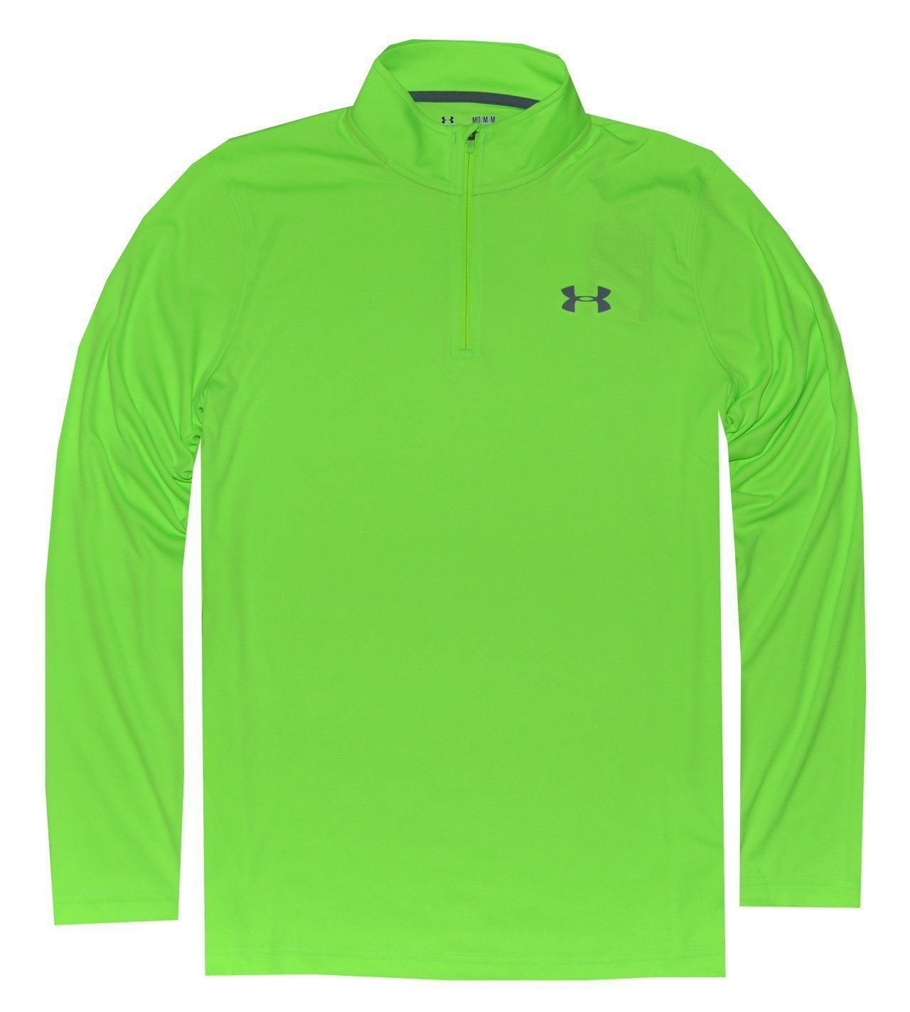 Under Armour All Season Gear 1/4 Zip Hyper Green Golf Pullover Lose Fit Size XL