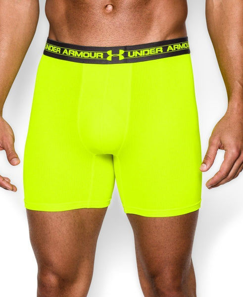 "Under Armour Men's Underwear Mesh 6"" Yellow BoxerJock Size S"