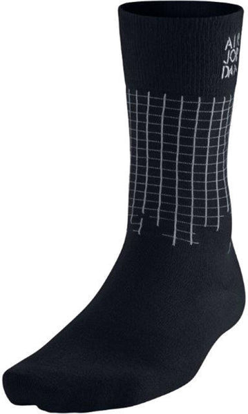 Nike Air Jordan Stencil Men's Crew Socks (Black/Grey) Size 8-12