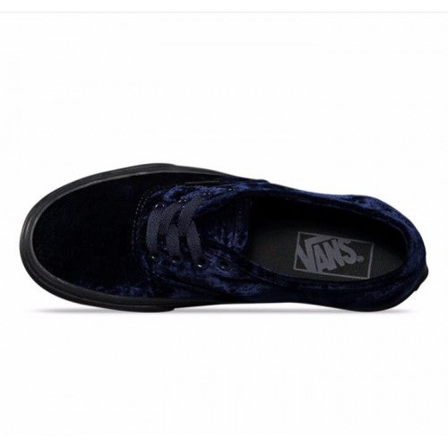 Vans Authentic Velvet Navy/Black Women's Classic Skate Shoes Size 6.5