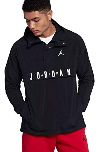 Nike Air Jordan Wings Anorak Pullover Wind Jacket Size 2XL Black