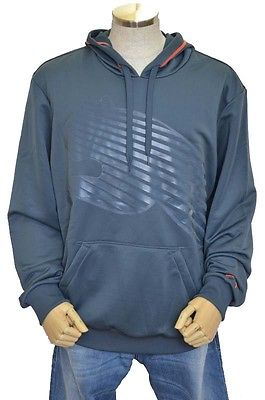 Puma Poly Terry Big Cat Blue/Peach Men's Hoodie Sweatshirt Size XL