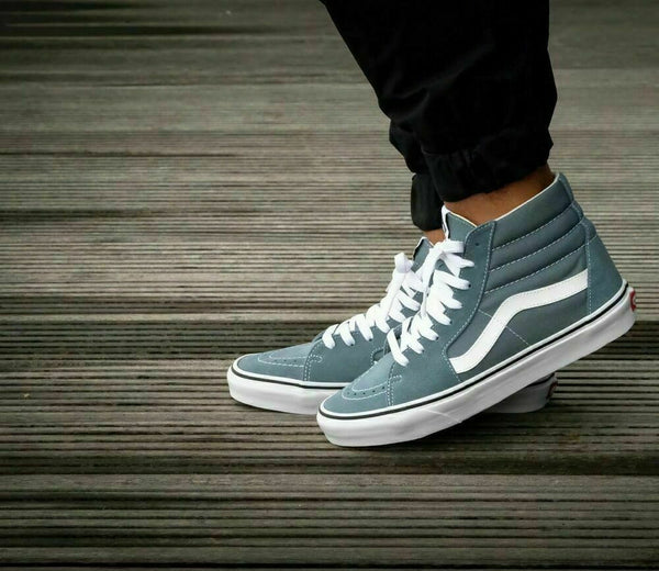 Vans SK8 Hi Goblin Blue/True White Men's Classic Skate Shoes Size 13